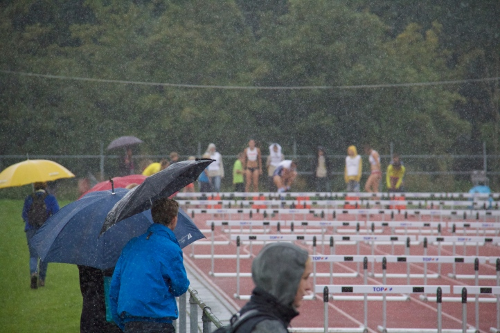 About to race, and yes it was Pouring.